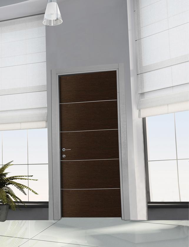 Porta tamburata mod rovere alluminio angelo contini - Porta tamburata ...