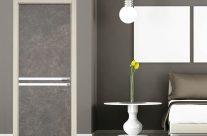 Porta in marmo tonalità grigio