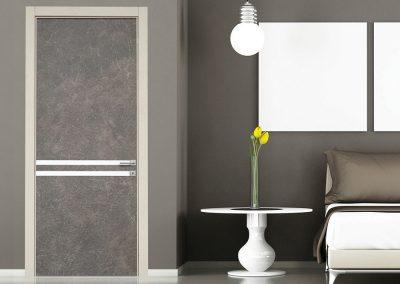 Contini Porte - Porta finitura marmo tonalità grigio