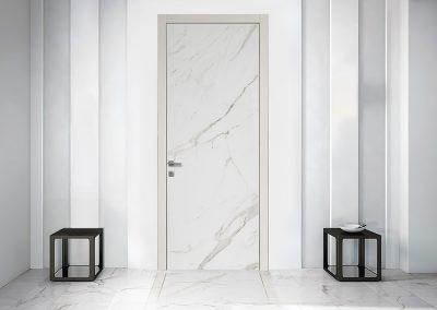 Contini Porte - Porta realizzata con prestigiosa finitura in marmo di carrara bianco