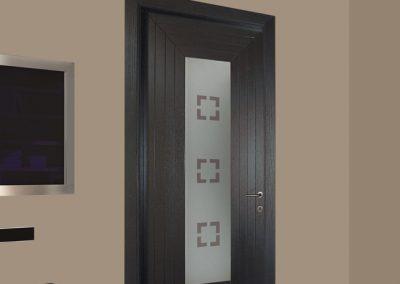 Contini Porte - Porta listellare Mod. M1 in rovere poro aperto color tortora