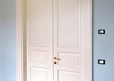 Contini Porte - Porta listellare laccata Mod. ND3-2 (doppia) vista lato destro